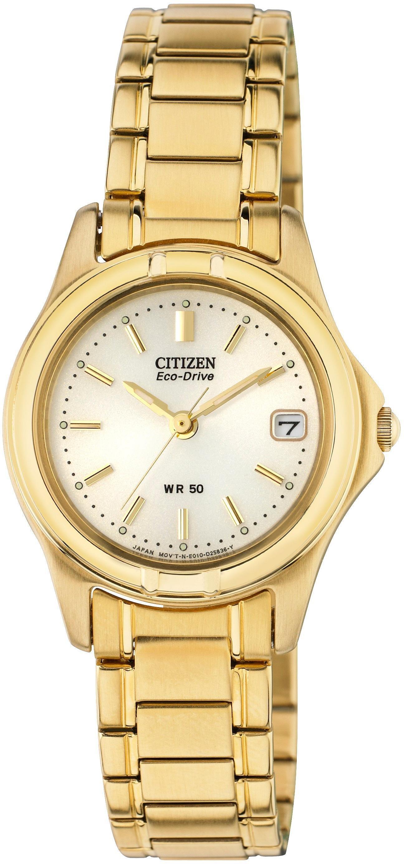 Image of Citizen - Ladies Eco-Drive Gold Tone Bracelet - Watch