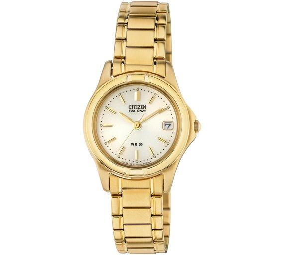 buy citizen ladies eco drive gold tone bracelet watch at argos co citizen ladies eco drive gold tone bracelet watch251 3234