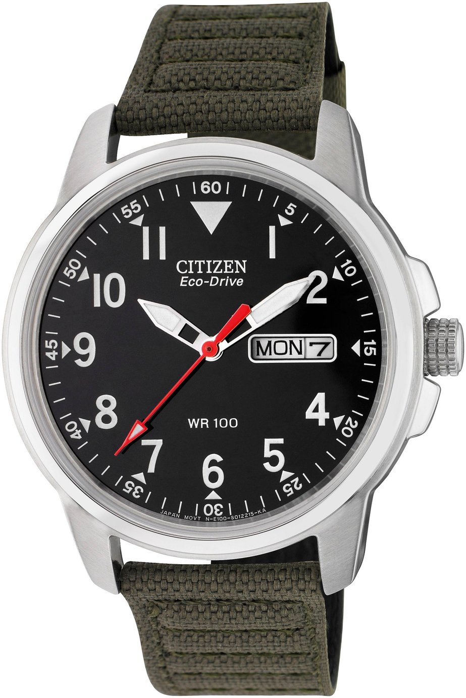 Citizen Men's Eco-Drive Analogue Green Canvas Strap Watch
