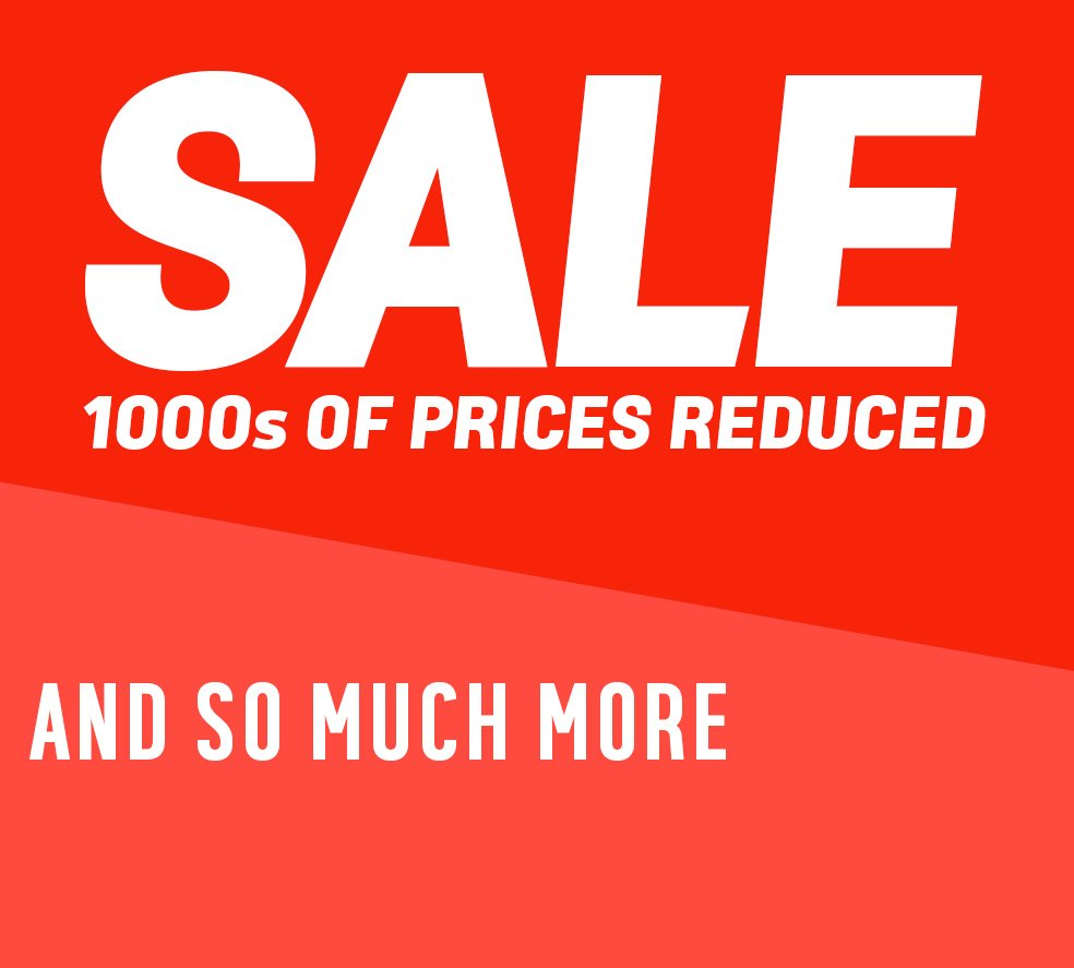 Sale now on. 1000s of lines reduced and so much more.
