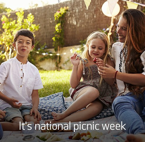 It's national picnic week.