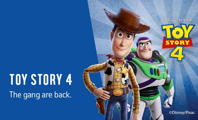 Toy Story 4. The gang are back.
