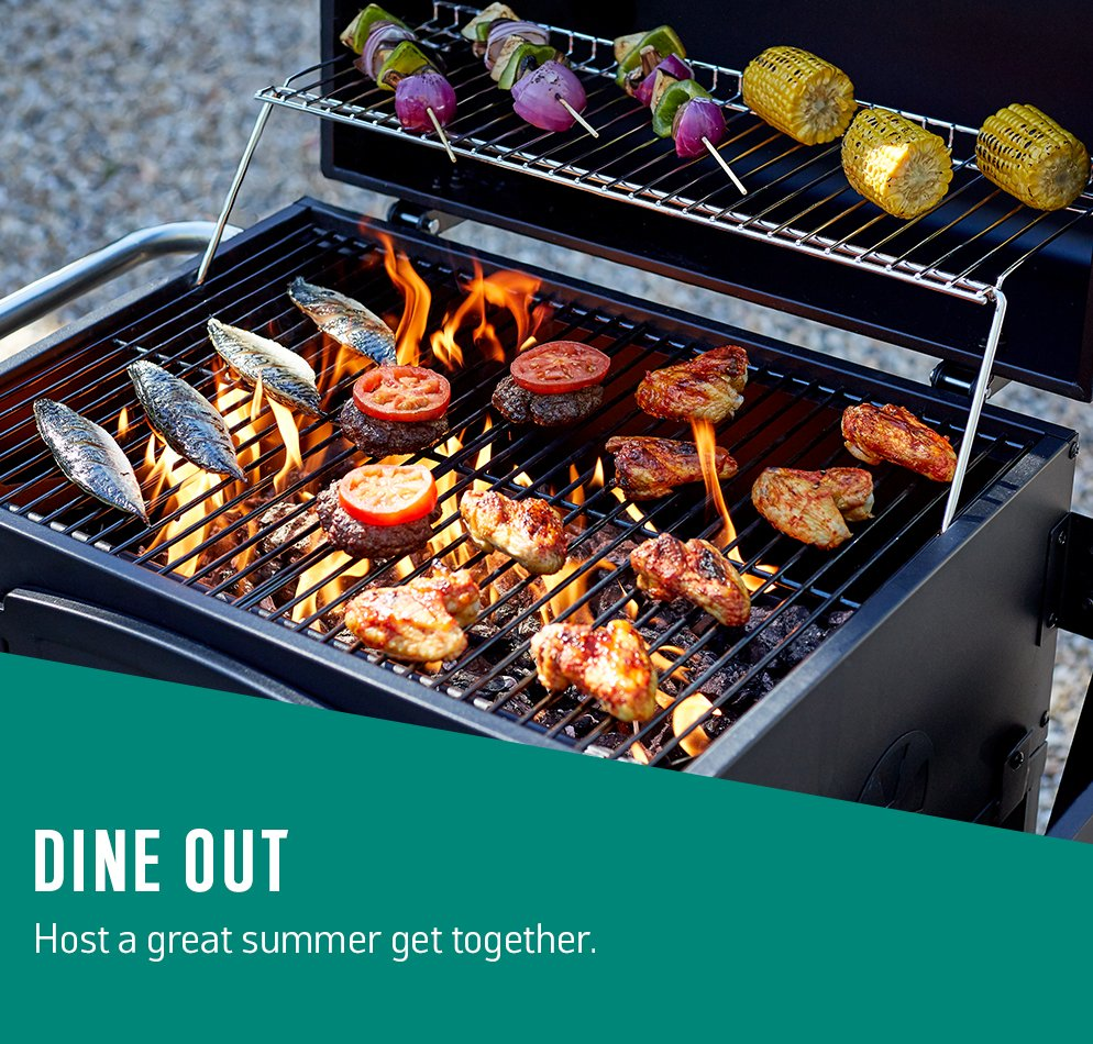 Dine out. Host a great summer get together.