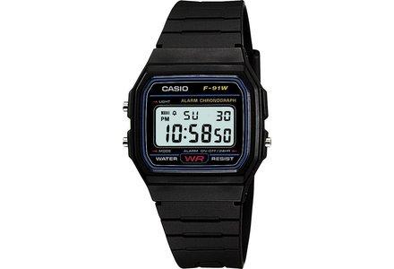Casio Men's LCD Black Resin Strap Watch.