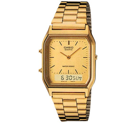 buy casio unisex gold tone combination watch at argos co uk your play video
