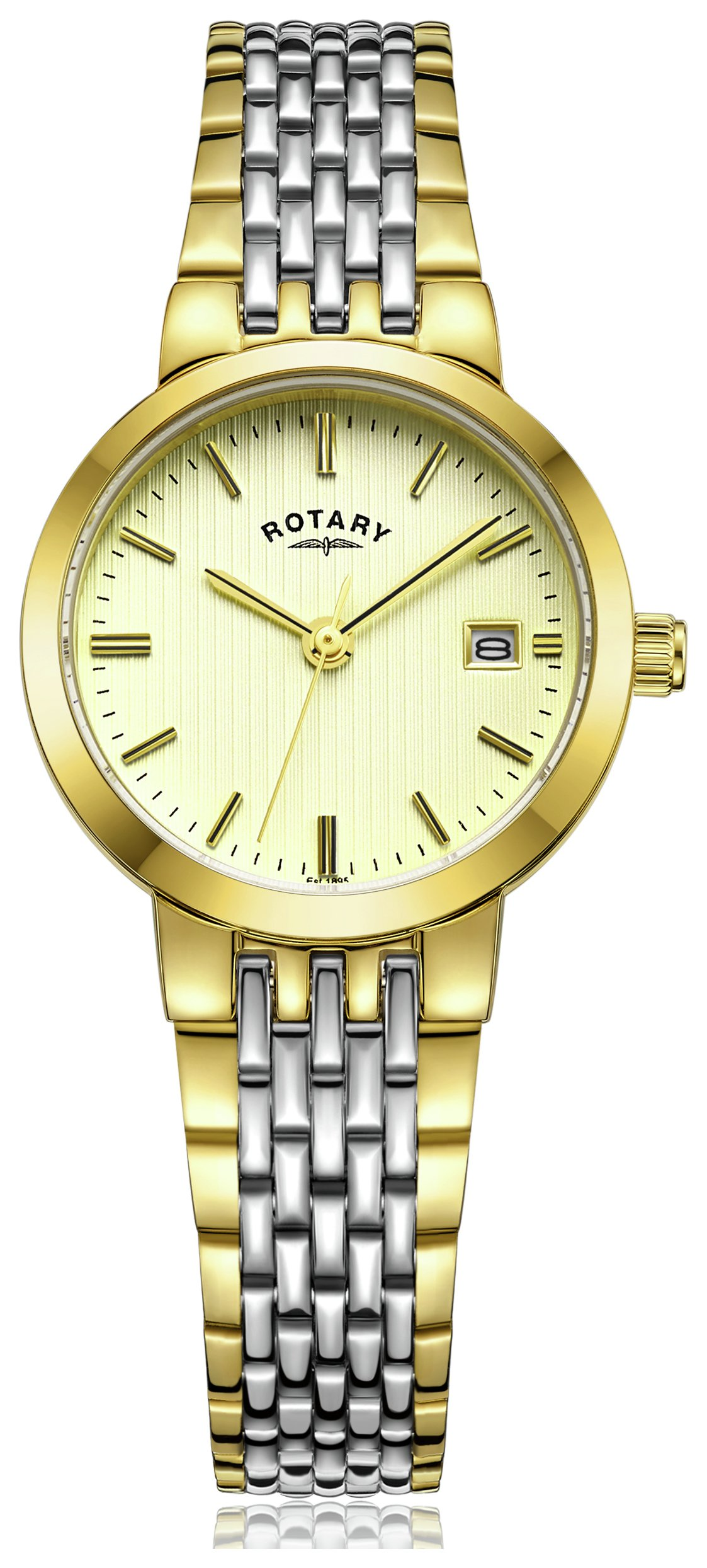 Rotary Ladies' Two Tone Quartz Bracelet Watch