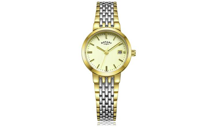 Rotary Ladies Two Tone Stainless Steel Bracelet Watch