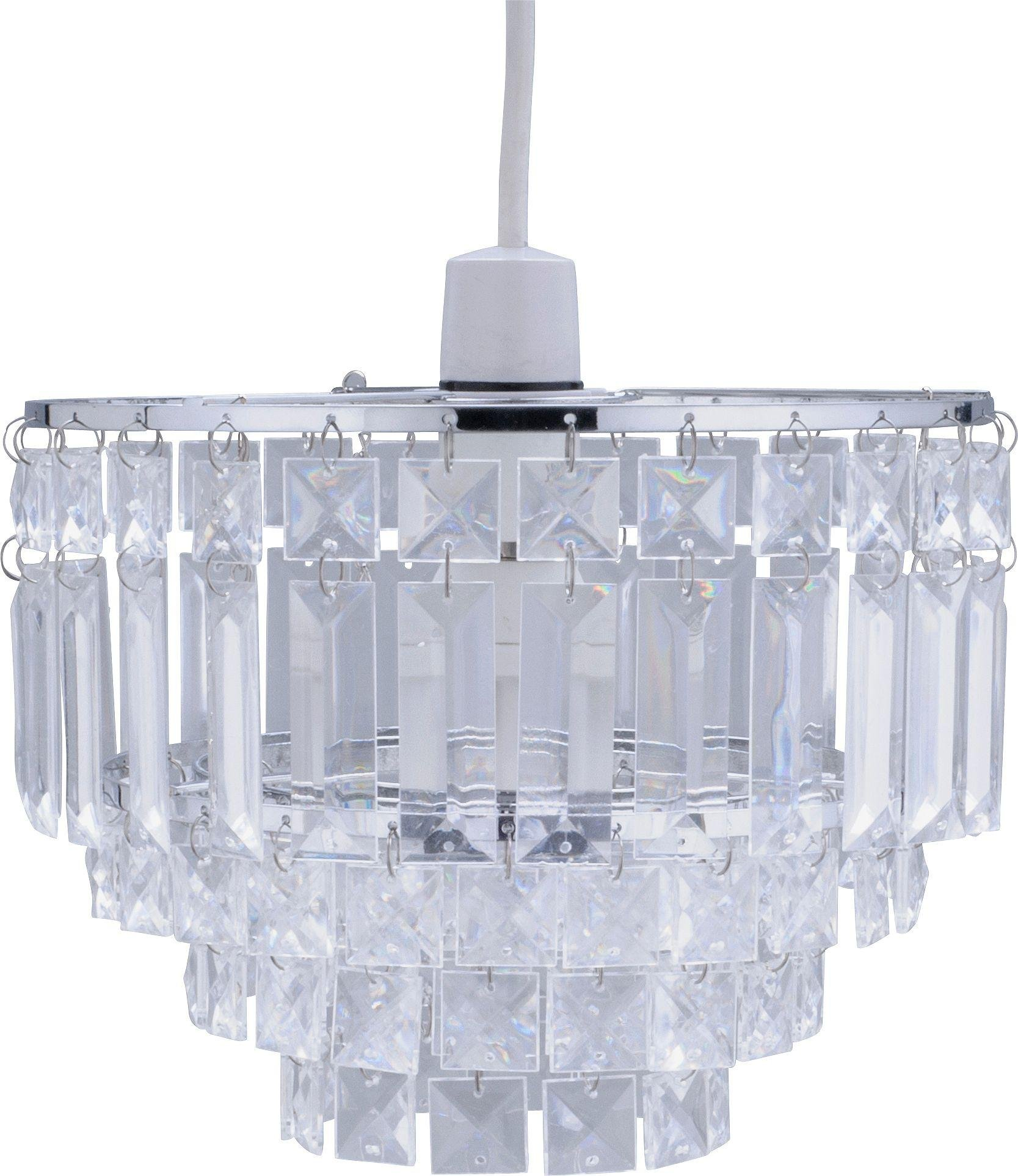 Argos Home Olivia Chrome Beaded Shade - Clear