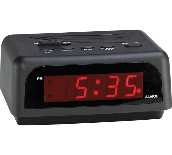Constant Digital Alarm Clock Will Have You Up And Out Of Bed In The Mornin  Black | eBay