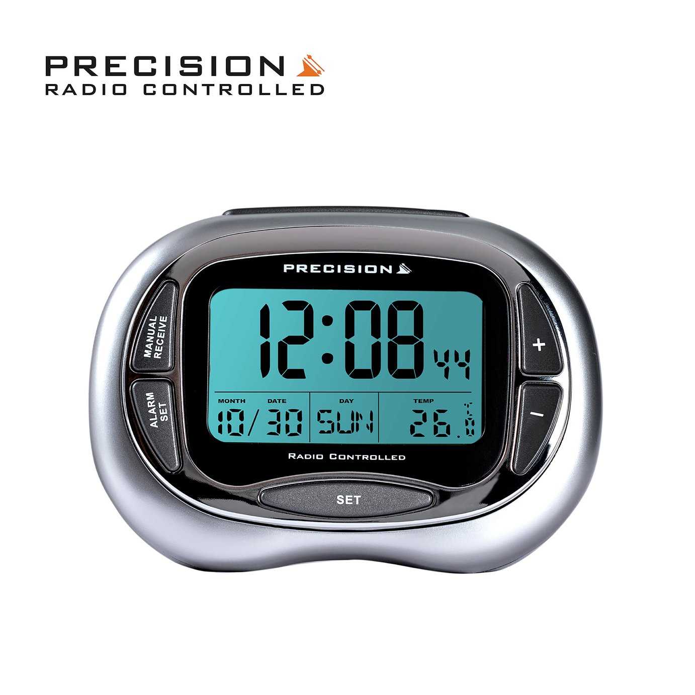 precision radio controlled lcd alarm clock review. Black Bedroom Furniture Sets. Home Design Ideas