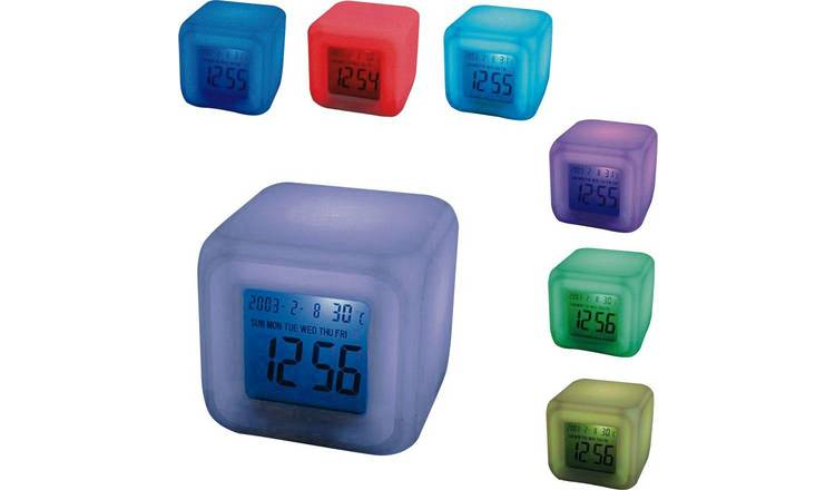 Mayhem UK Aurora 30 Second Glow Colour Change Alarm Clock