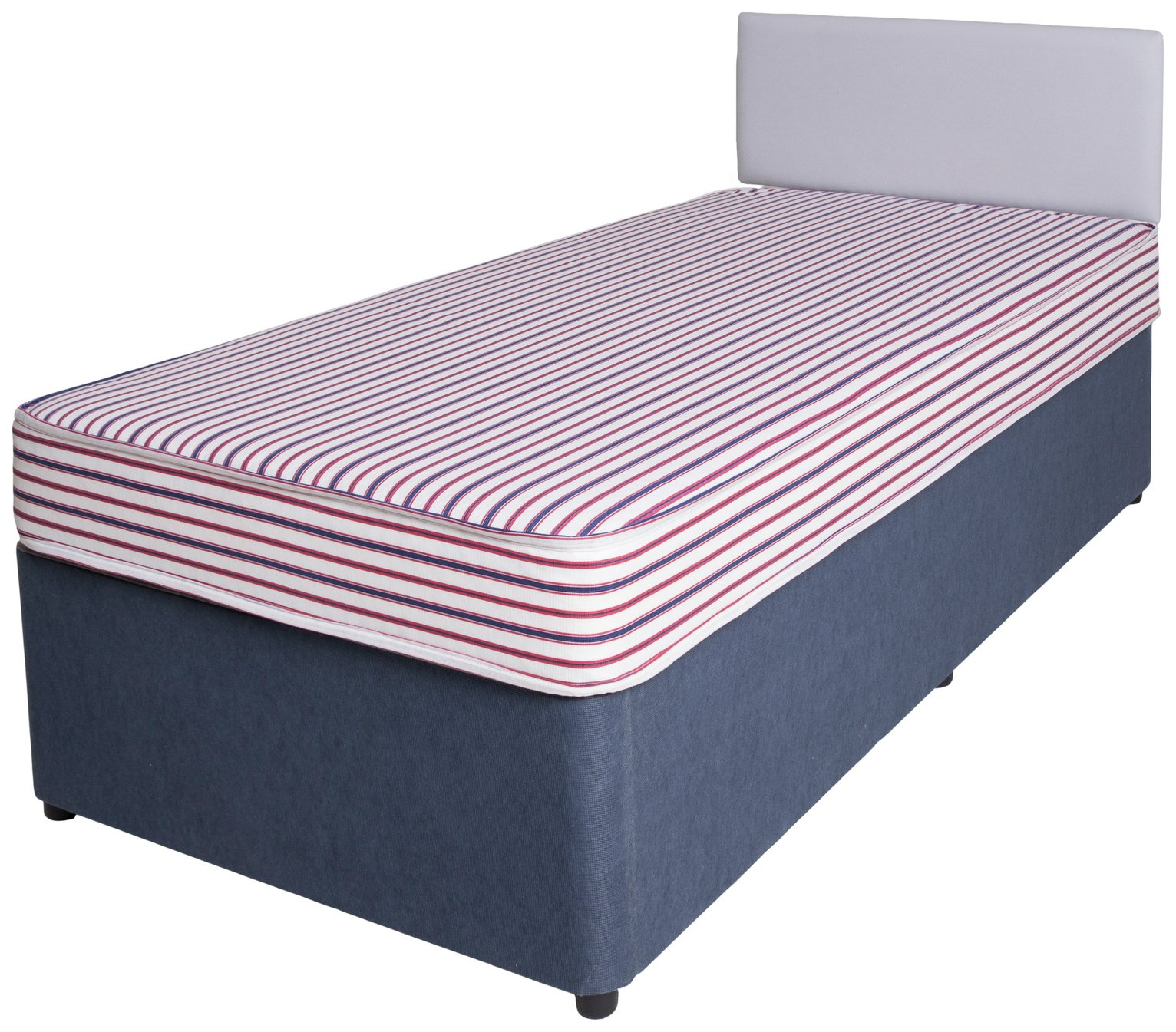 Forty Winks Bibby Basic Single Divan Bed with Mattress