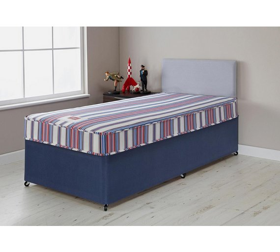 Buy forty winks bibby basic single divan bed with mattress at your online shop for Argos single divan beds