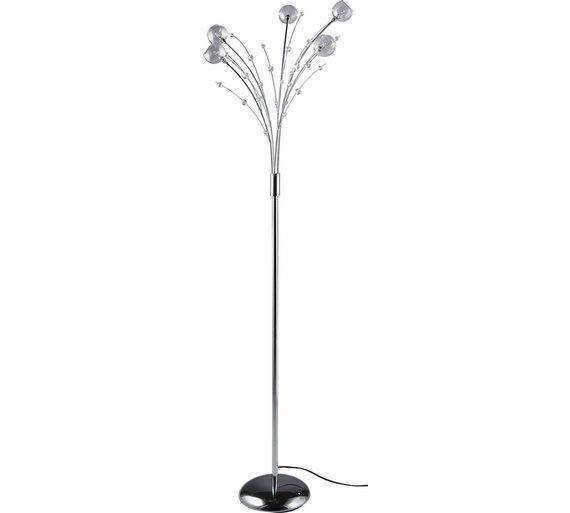 Buy argos home sophie 5 light floor lamp chrome floor lamps argos click to zoom aloadofball Choice Image
