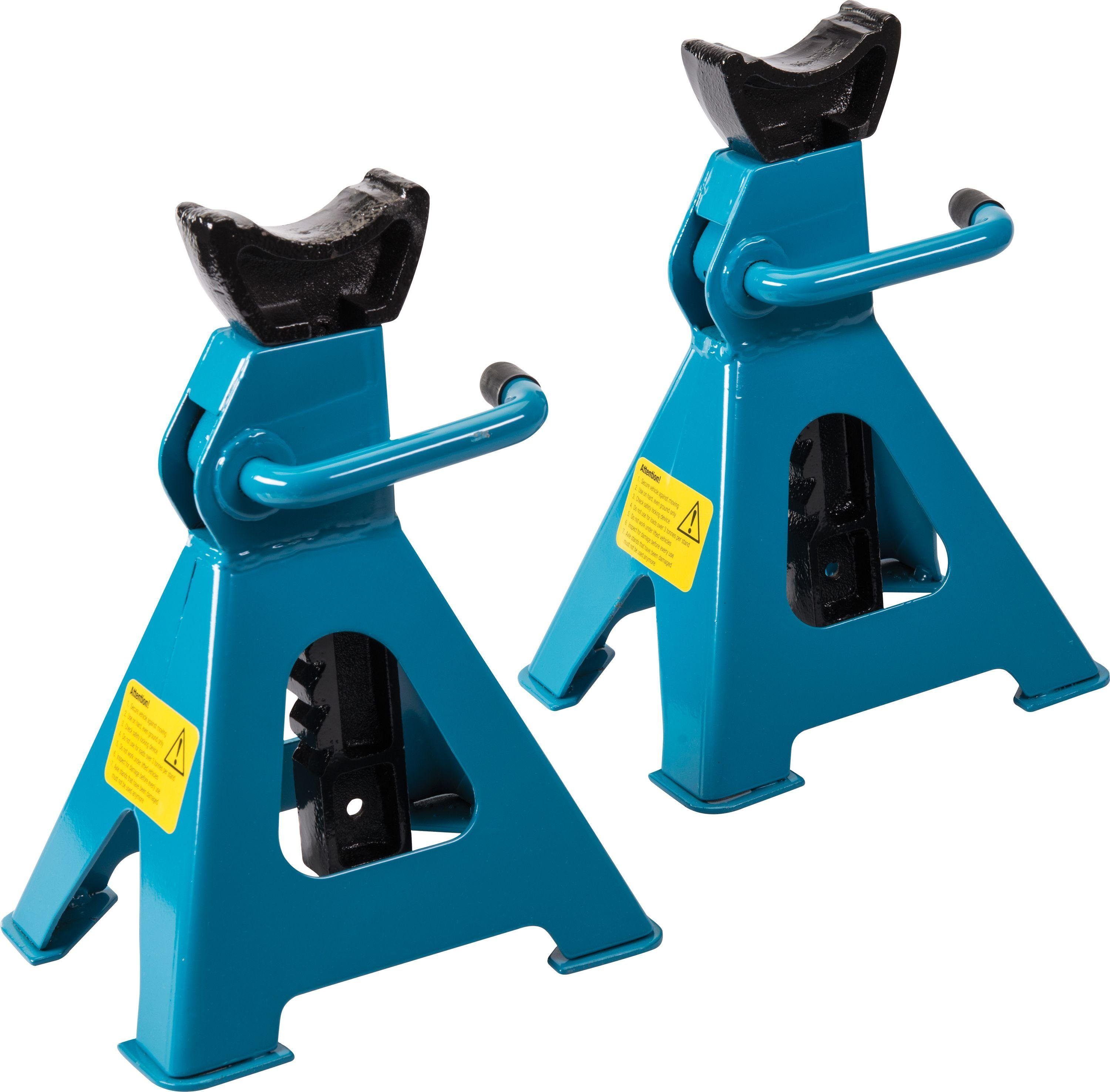 Image of Silverline 3 Tonne Axle Stands - Set of 2.