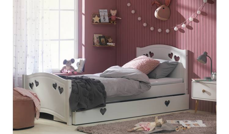 Argos Home Mia Single Bed Frame - White
