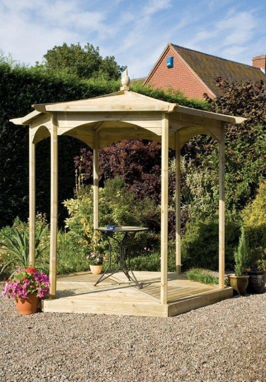 Image of Grange Fencing - Budleigh Hexagonal Gazebo Bandstand