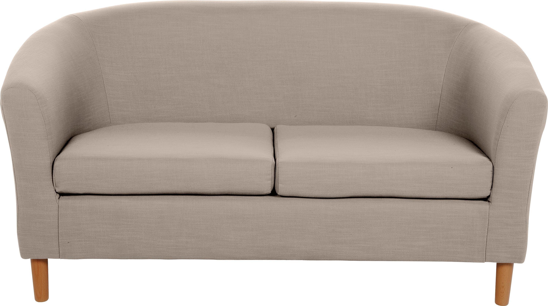 Habitat 2 Seater Fabric Tub Sofa - Mocha