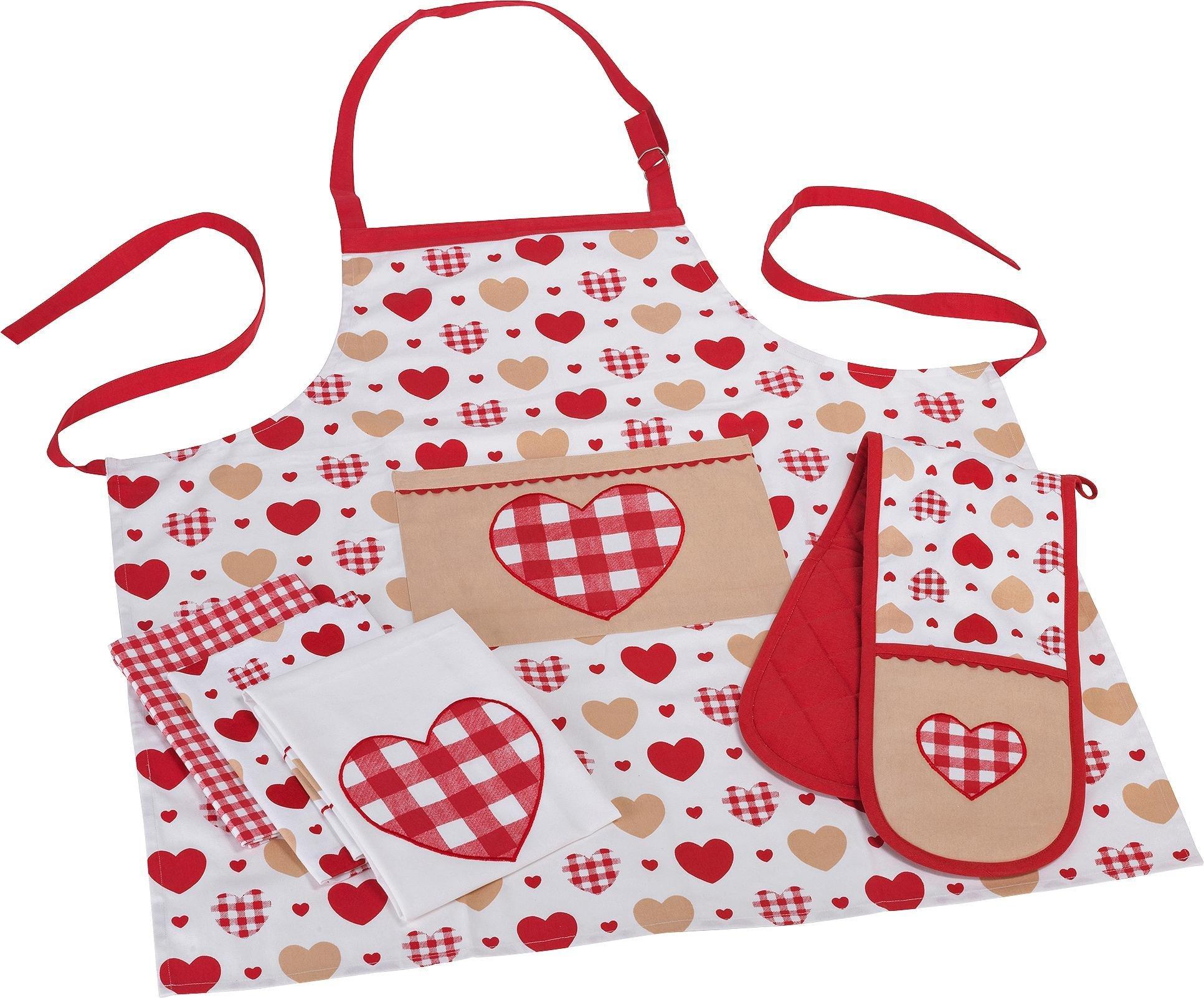 White apron argos - Home Amour 5 Piece Textile Set