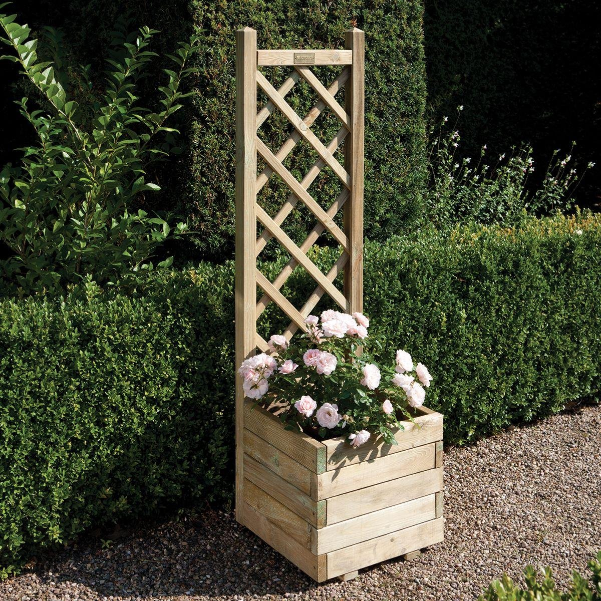 Rowlinson - Square Planter with Lattice lowest price