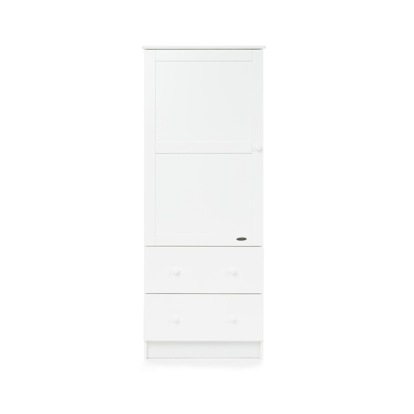 Obaby Single Wardrobe - White.