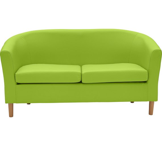 Buy ColourMatch 2 Seater Leather Effect Tub Sofa  Apple Green at