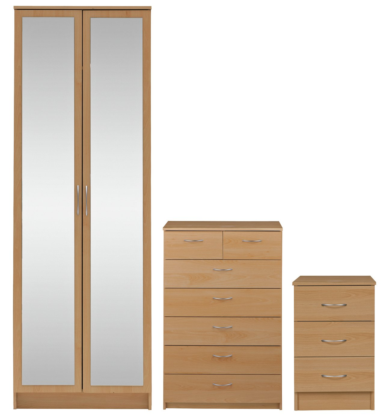 sale on collection cheval 3 piece 2 dr wardrobe package. Black Bedroom Furniture Sets. Home Design Ideas