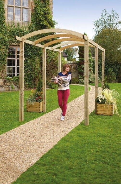 Grange Fencing Colonnade Pergola with Long Posts.
