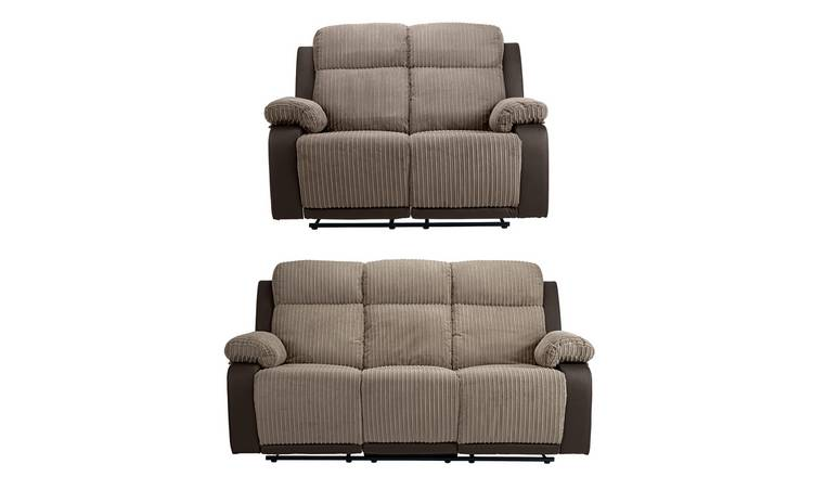 Argos Home Bradley 2 Seater & 3 Seater Recline Sofa -Natural
