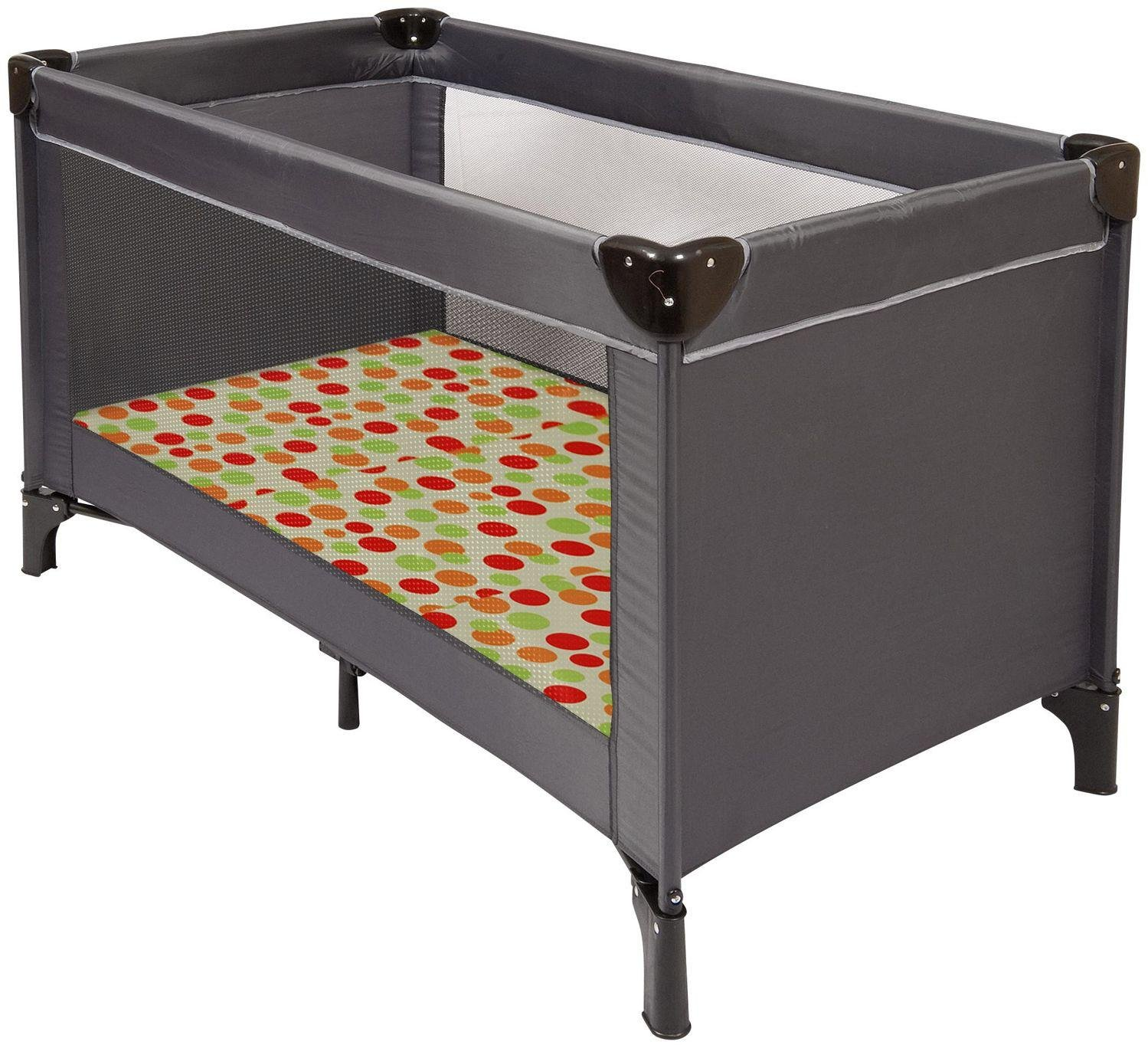 Image of Clevamama - 3 in 1 Sleep, Sit and Play - Travel - Cot - Mattress