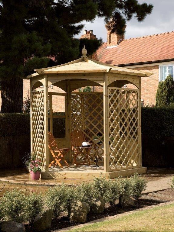 Grange Fencing - Budleigh Hexagonal Gazebo Dressed A lowest price