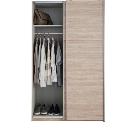 Buy hygena bergen 2 door small sliding wardrobe oak effect at your online shop - Sliding door wardrobes for small spaces image ...