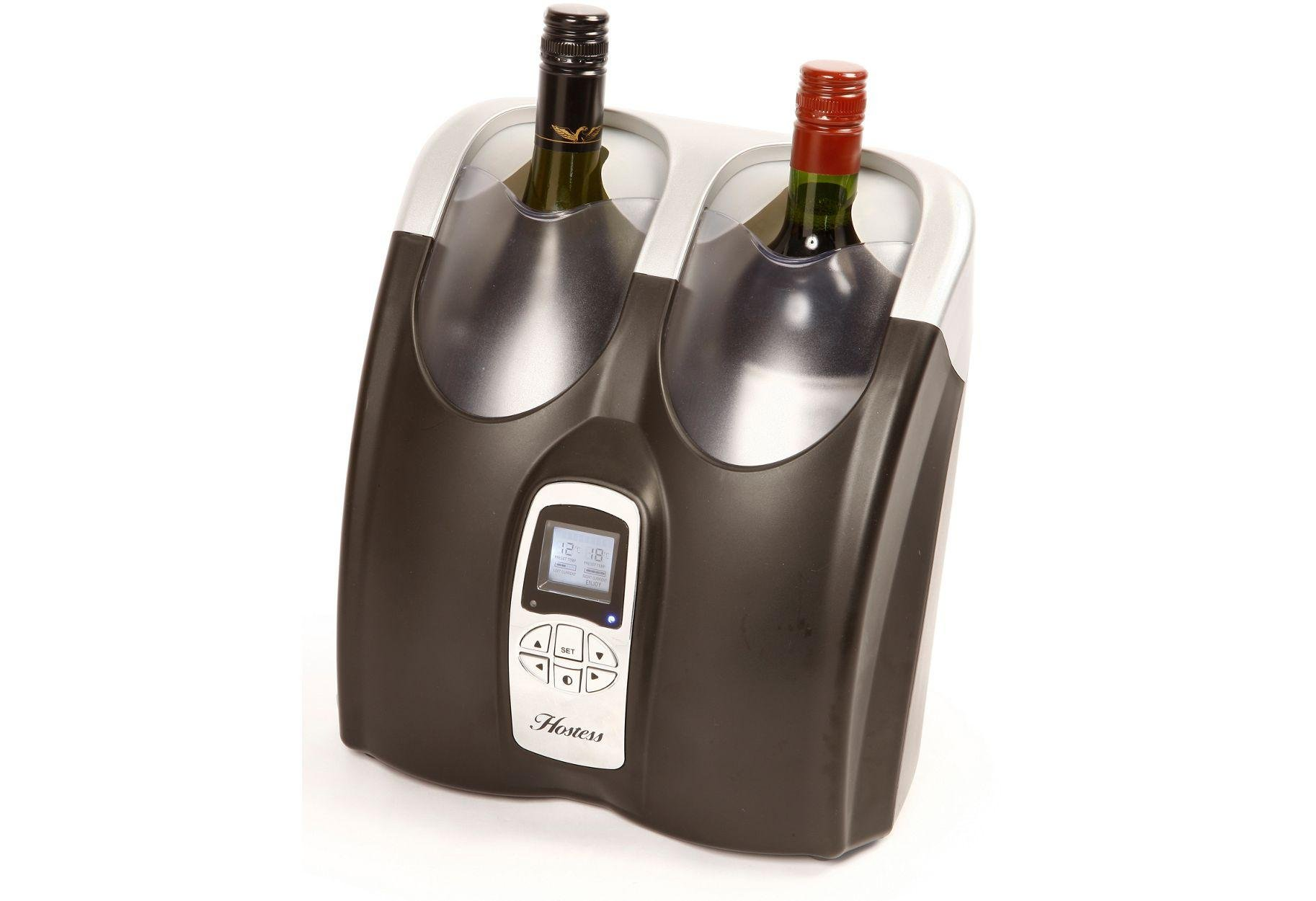 Image of Hostess HW02MA Twin Bottle Wine Chiller - Black.