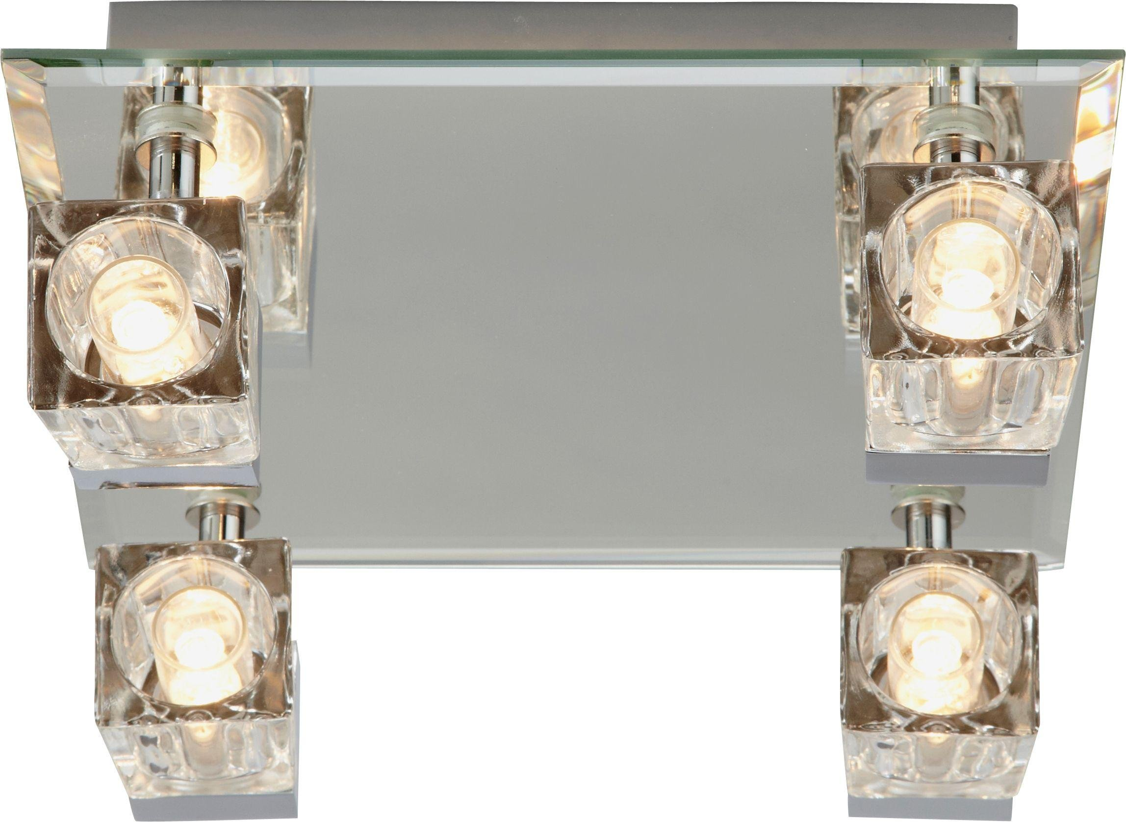 Argos Home Mira 4 Glass Cube Bathroom Spotlights - Chrome