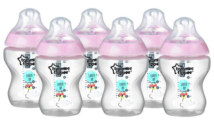 Tommee Tippee Closer to Nature Decorated Bottles 260ml x 6