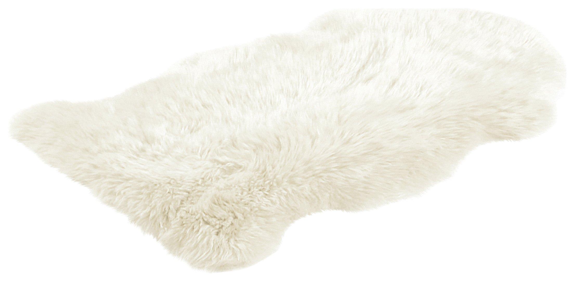 Image of Bowron Sheepskin Longwool Rug - 60x95cm - Ivory