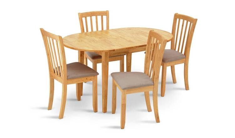 Argos Home Banbury Solid Wood Extending Table & 4 Chairs