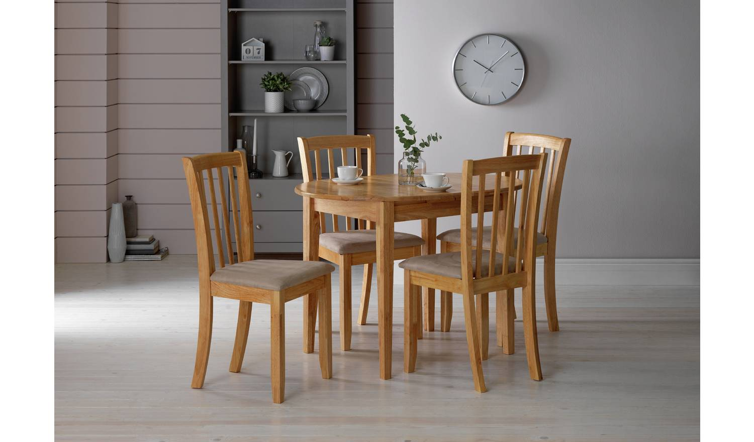 Banbury extendable table with chairs – Argos Home