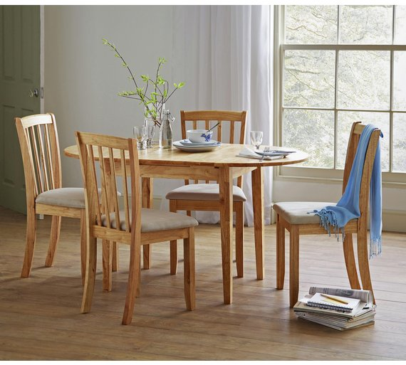 Argos Dining Table And Chairs White: Buy Collection Banbury Extendable Table & 4 Chairs
