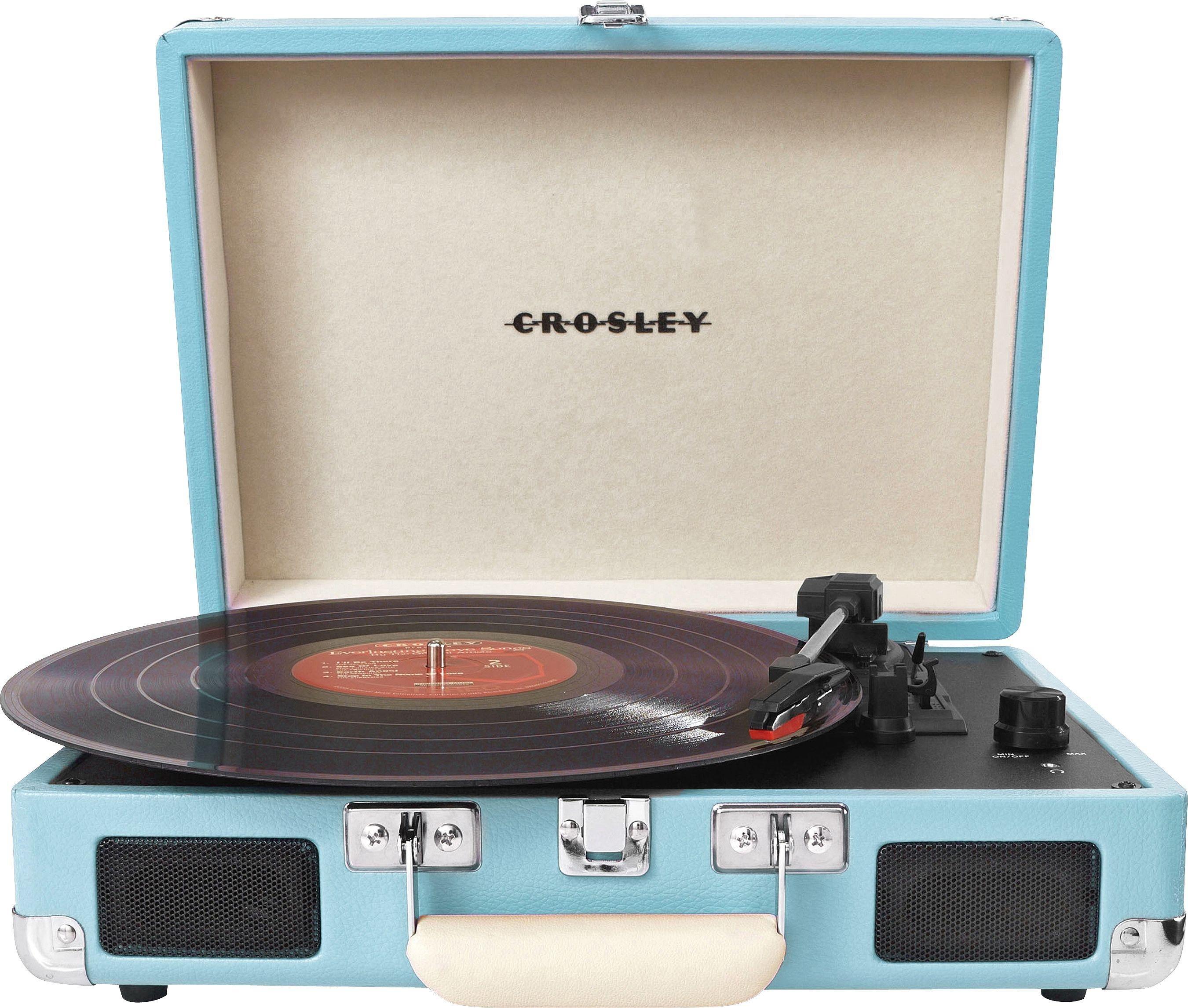 Exceptional Crosley Cruiser Retro Turntable   Turquoise