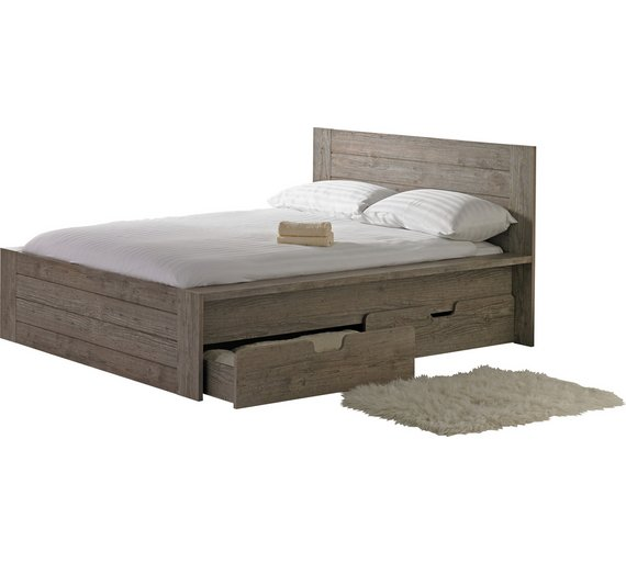 Buy Collection Seattle Kingsize 2 Drw Storage Bed Smokey Oak At Your Online Shop
