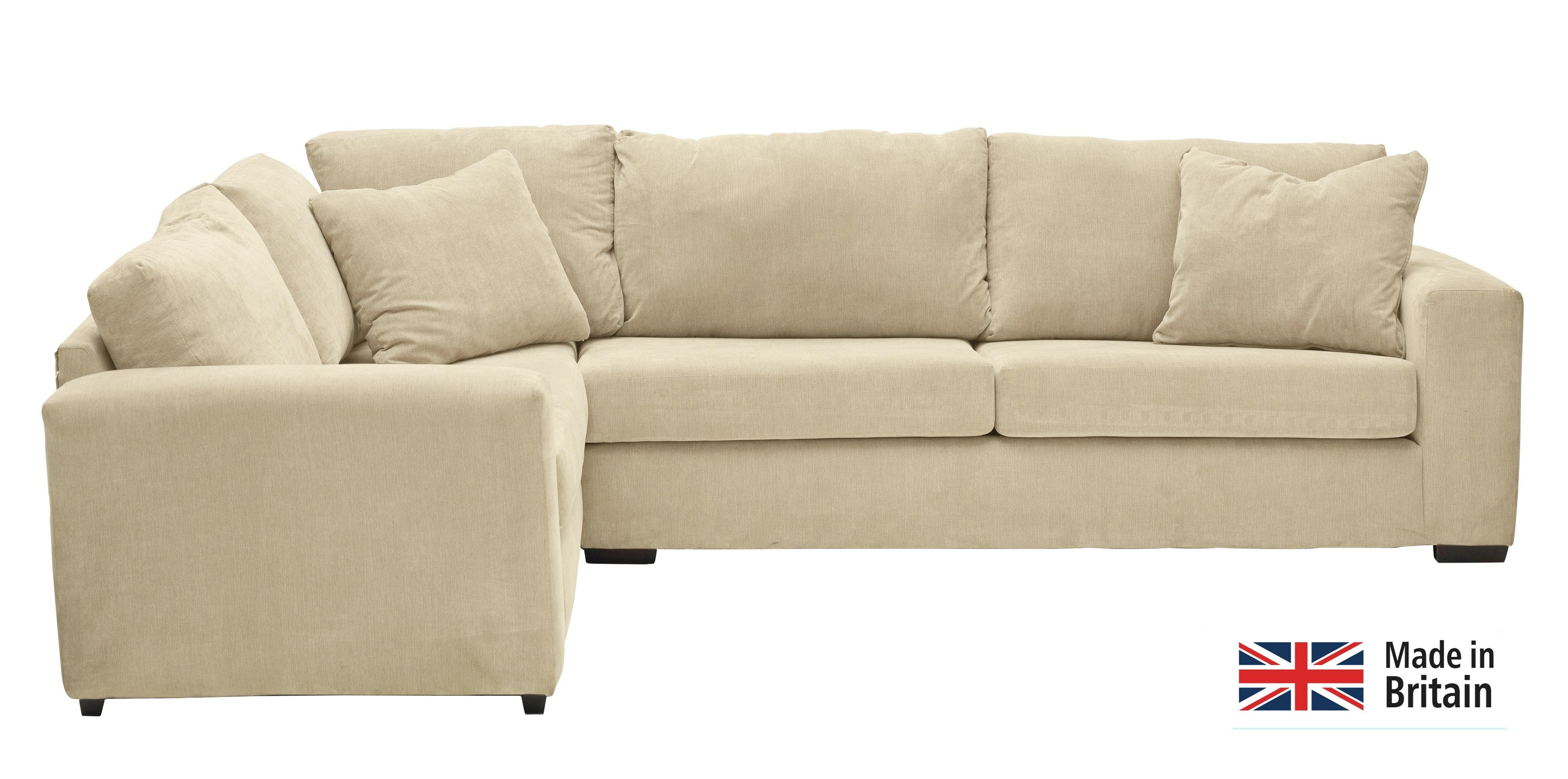 Argos Home Eton Left Corner Fabric Sofa - Mink
