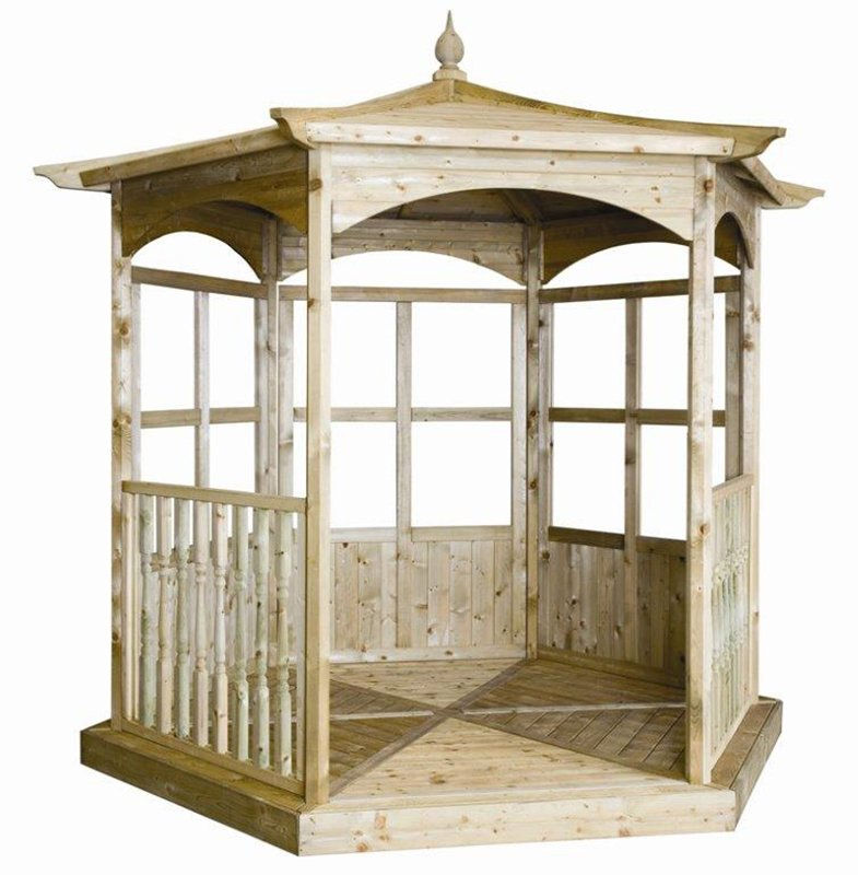 Buy Grange Fencing Budleigh Hexagonal Gazebo Dressed B At