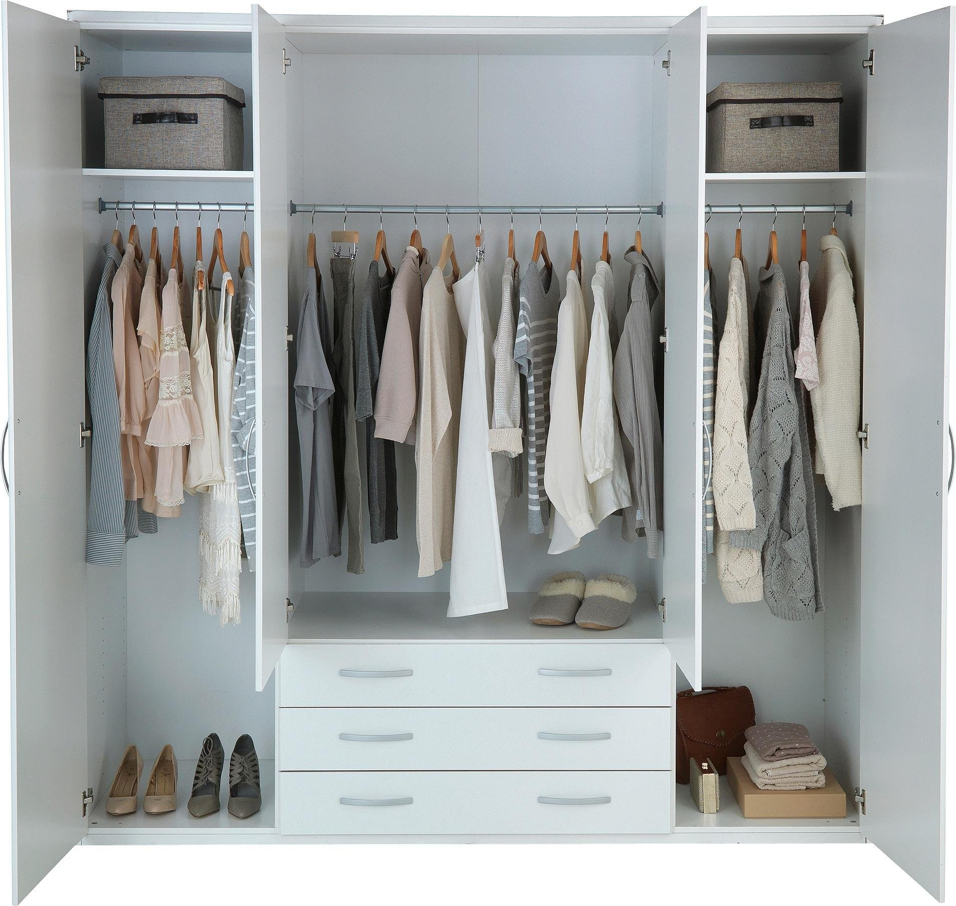 Buy Collection Hallingford 4dr 3drw Mirrored Wardrobe
