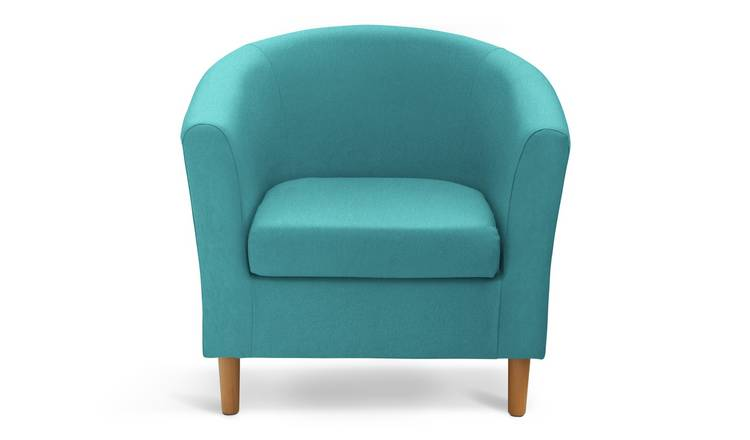 Habitat Fabric Tub Chair - Teal