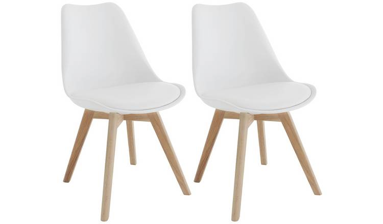 Buy Habitat Jerry Pair Of Dining Chairs White Dining Chairs Argos