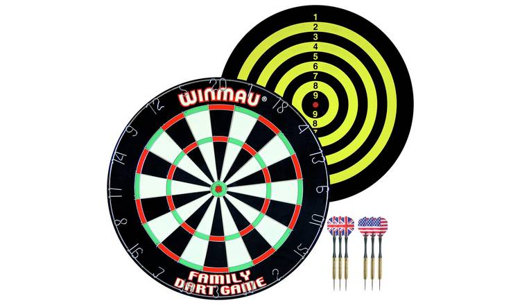 Winmau Double Sided Family Dartboard Game & 2 Sets of Darts