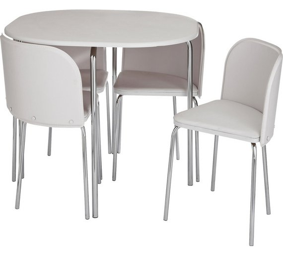 Buy Hygena Amparo Dining Table Chairs White Dining Sets Argos - Coffee table with 4 chairs