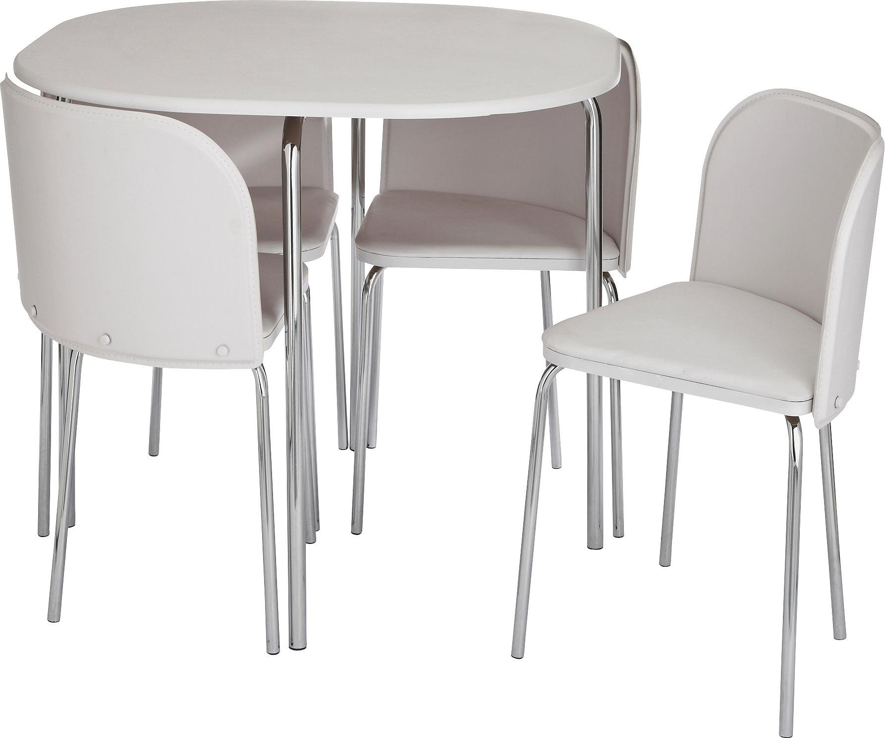 Buy Hygena Amparo Dining Table 4 Chairs White at Argoscouk