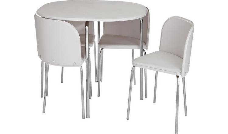 Amazing Buy Argos Home Amparo White Dining Table 4 White Chairs Dining Table And Chair Sets Argos Complete Home Design Collection Lindsey Bellcom